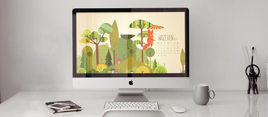 tapeta wrzesień kalendarz mama projektuje